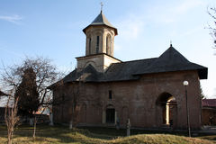 Old brick church, Biserica Sf. Vineri, Targoviste Royalty Free Stock Photo
