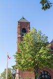 Brick Clock Tower in Charlottetown Stock Photo