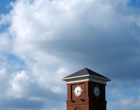 Brick clock tower Time's running out Royalty Free Stock Photo