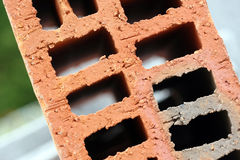 Brick close up. Extreme detail of a red brick stock photos