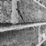 Brick. Close up of sole brick that was installed Royalty Free Stock Image