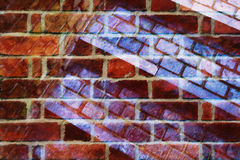 Brick collage abstraction Royalty Free Stock Image