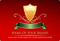 Brick color label Stock Images