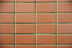 Brick color tile wall background Royalty Free Stock Photography