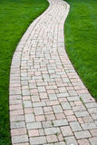 Brick Color Walkway Royalty Free Stock Photography