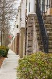 Sidewalk at Brick Townhomes Stock Image