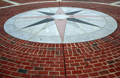 Brick Compass walkway Royalty Free Stock Photography
