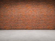 Brick and Concrete room stock illustration