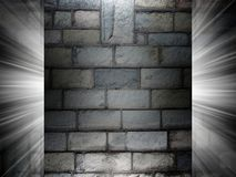 Brick and Concrete texture 3d presentation Royalty Free Stock Photos