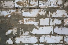 Brick,concrete weathered grunge wall background Stock Image
