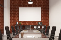 Brick conference room, poster Stock Photo