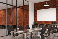 Brick conference room, poster, side Royalty Free Stock Images
