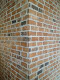 Brick conner. The background brick pattern Royalty Free Stock Photo
