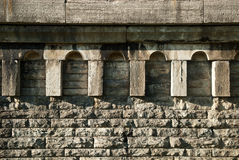 Brick Construction. A vew of a section of an old cement brick structure Royalty Free Stock Images