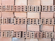 Brick for construction. Red brick for construction texture background stock image