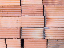 Brick for construction. Red brick for construction texture background royalty free stock image