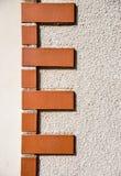 Brick corner pattern. Brown Brick at corner pattern Royalty Free Stock Image