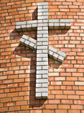 Brick cross Royalty Free Stock Images