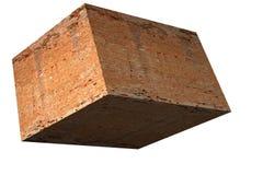 Brick cube stock photo