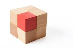 Brick of cubes Royalty Free Stock Photos