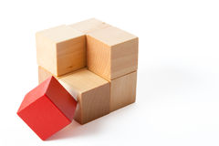 Brick of cubes Stock Photography