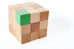 Brick of cubes Royalty Free Stock Image