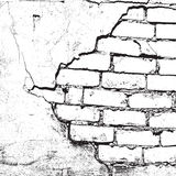 Brick Damaged Texture Royalty Free Stock Photos