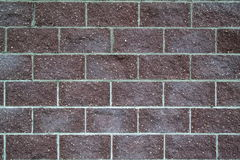 Brick dark red wall Stock Images