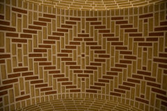 Brick design ceiling. Brick patterned ceiling in the Qajar Museum in the 1881 Amir Nezam house in Tabriz, Iran stock images
