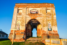 Brick destroyed the church of St. Nicholas Royalty Free Stock Image