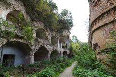 Brick destroyed wall . Ruins of old fort Tarakanovskiy. Dubno. U Royalty Free Stock Images