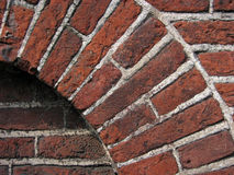 Brick Detail. Section of a brick wall archway, showing texture, colour and pattern detail Stock Images