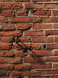 Brick Detail. Section of a brick wall showing texture, colour, pattern detail, light and shadow Royalty Free Stock Photo