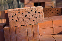 Brick detail house raising Royalty Free Stock Photography