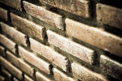 Brick with dirty wall Stock Images
