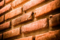 Brick with dirty wall Royalty Free Stock Photography