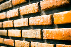 Brick with dirty wall Royalty Free Stock Image