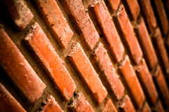 Brick with dirty wall Royalty Free Stock Images