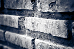 Brick with dirty wall Royalty Free Stock Photos