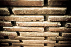 Brick with dirty wall Stock Photos