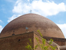 Brick dome in Blue mosque in Tabriz, Iran Royalty Free Stock Photos