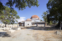 Brick dome of a 14th century mosque,Milet, Turkay Royalty Free Stock Photo