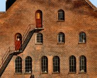 Brick European Architecture. A building along Denmark's waterways Stock Photo