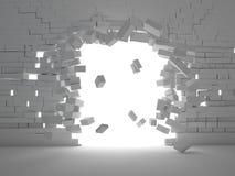 Brick explosion Stock Image