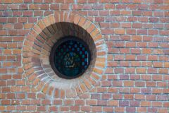 brick eyelet of church Stock Image