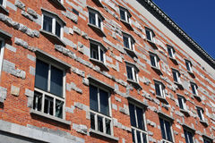 Brick facade Stock Photo