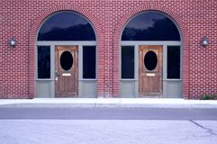 Brick Facade - Image of Symmetry royalty free stock photos