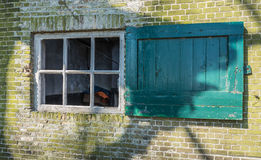 Old window without glass Royalty Free Stock Images