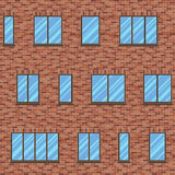 Brick facade pattern 1 color Royalty Free Stock Images