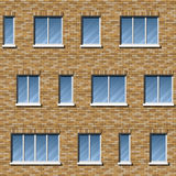 Brick facade pattern 2 color Stock Images